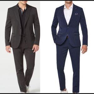 2x Politix Pinstripe Suits
